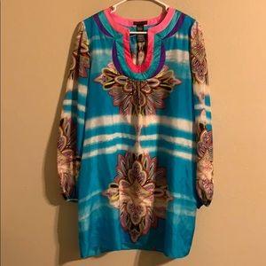 Custo Barcelona silk tunic dress large